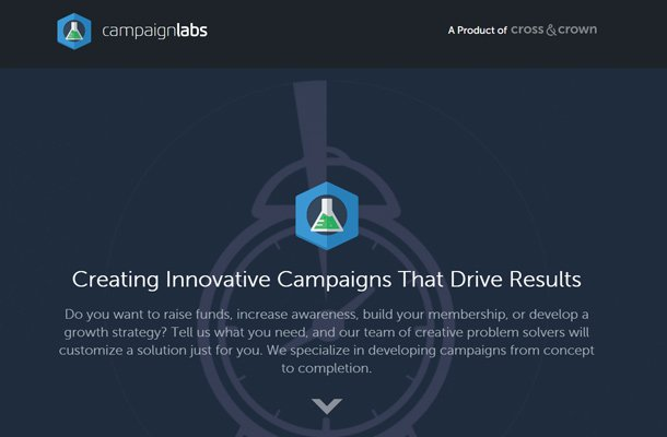 campaign labs blue website design