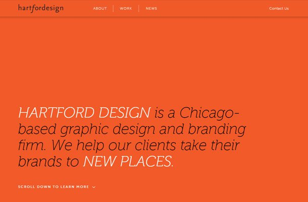 graphic design firm typography orange layout