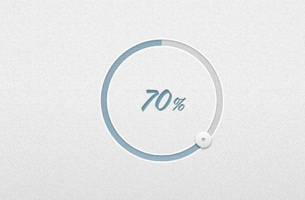 blue circular percentage indicator ui