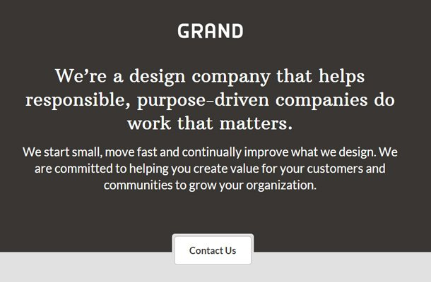 grand agency studio design website
