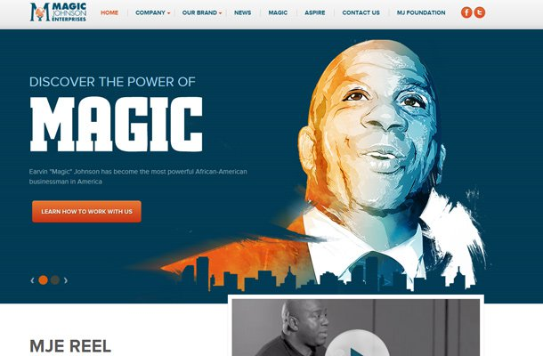 magic johnson website personal homepage