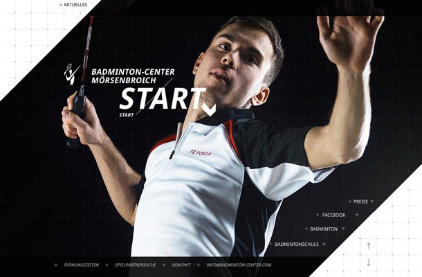 badminton center fancy website design