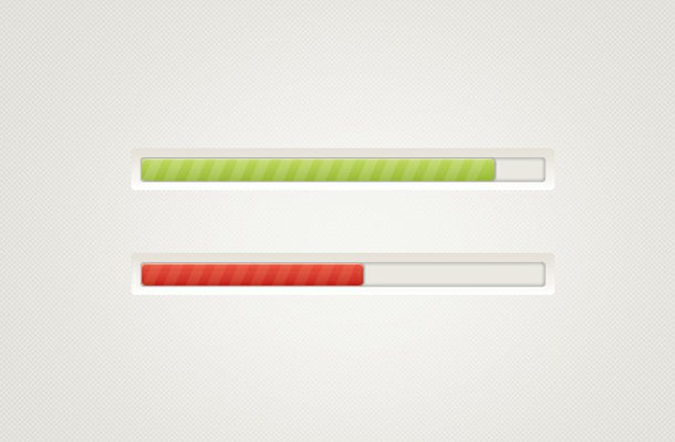 green red striped loading bars psd