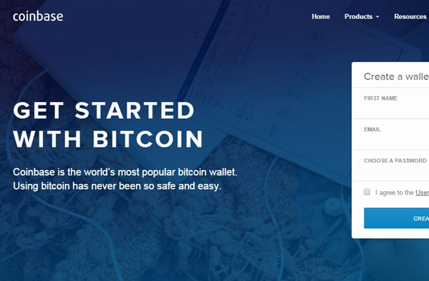bitcoin wallet coinbase website
