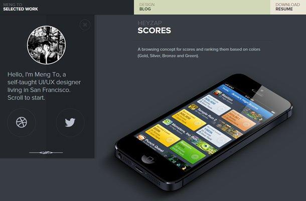 meng to ui ux designer website portfolio