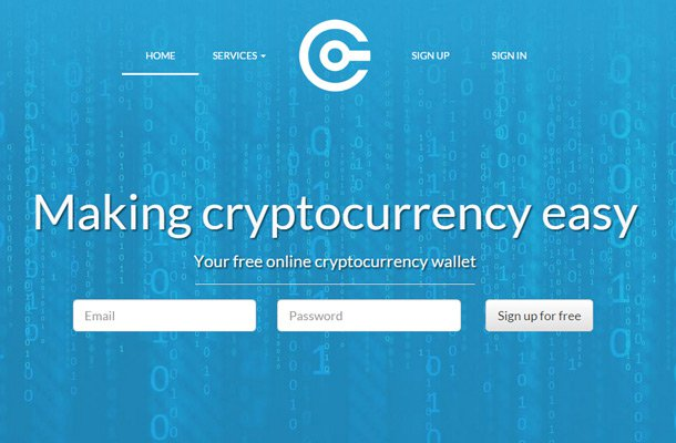 crypto currency coins design homepage