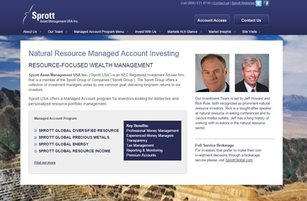 sprott asset management company