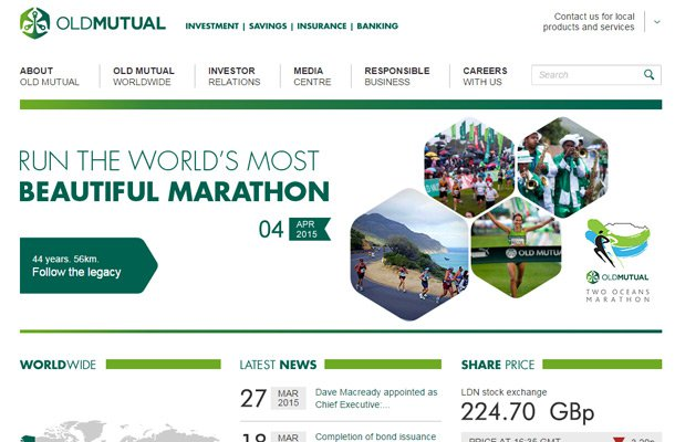 old mutual homepage design