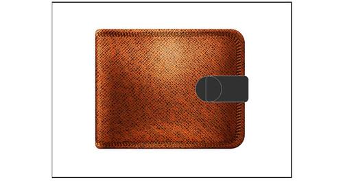 PS教程!手把手教你绘制一个写实钱包