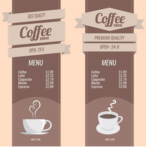 Coffee-menus-set