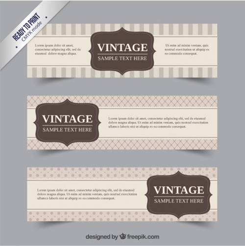 Cute-vintage-banners-collection