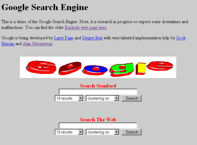 Google 1997 1