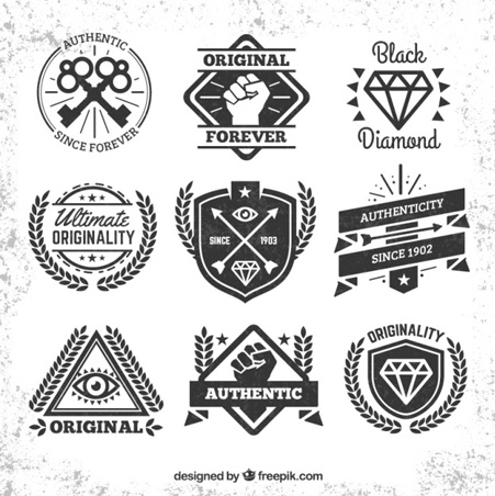 Hipster-badges-collection