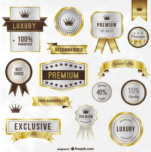 Luxury-golden-labels-and-ribbons