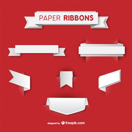 Paper-ribbons-vector-set