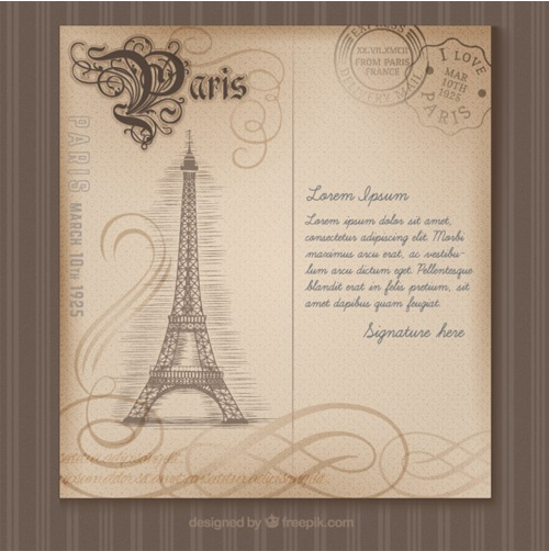 Paris-postcard-in-retro-style