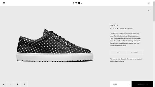 footwear label ETQ
