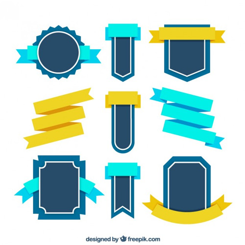 Retro-badges-ribbons Ribbon Vector Freebies