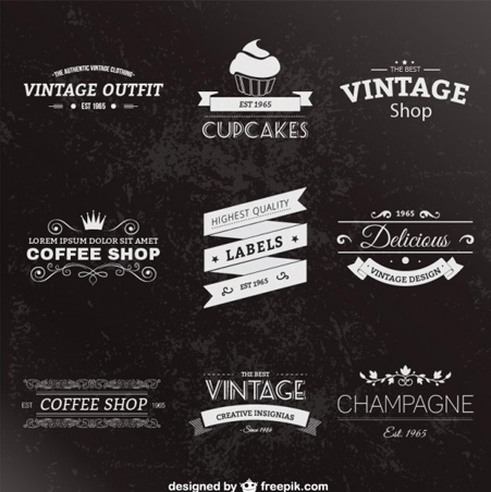 Retro-style-labels-pack