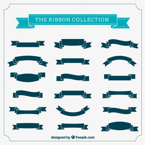 The-ribbon-collection Ribbon Vector Freebies