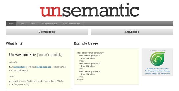 Unsemantic-CSS-Framework
