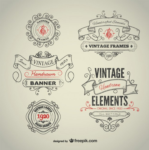 Vintage-hand-drawn-elements