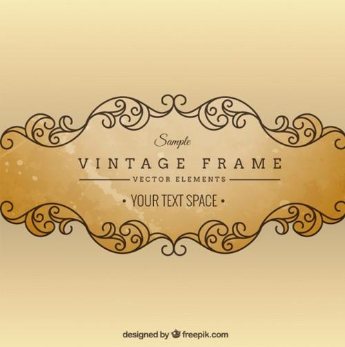 Vintage-ornamental-frame