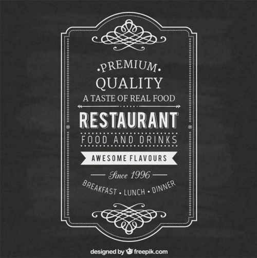 Vintage-restaurant-label