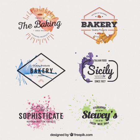 Watercolor-restaurant-badges