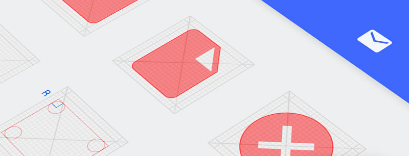 Android L Icon Grid PSD