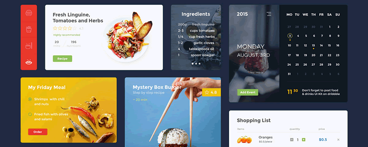 Food Drink UI Kit