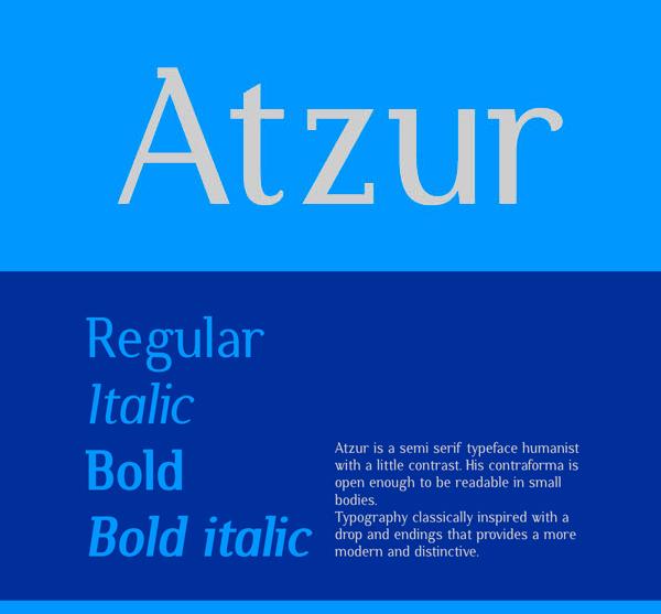Atzur Free Font