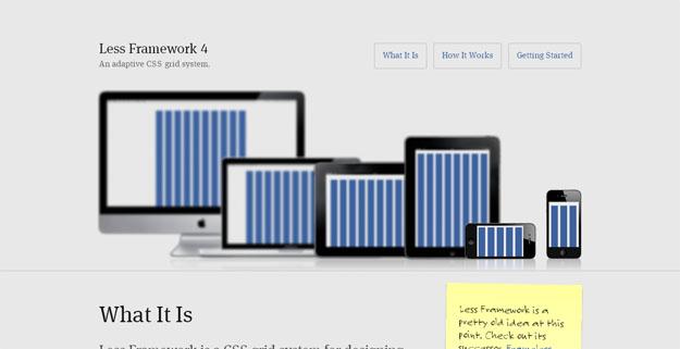 网页的脊梁!20款素质过硬的响应式CSS栅格系统