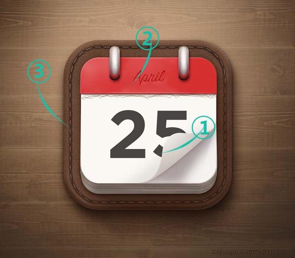 PS教程!教你绘制一枚经典的写实日历图标