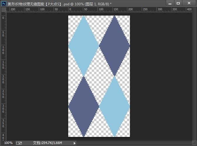 PS新手教程!手把手教你创建一个无缝菱形编织纹理