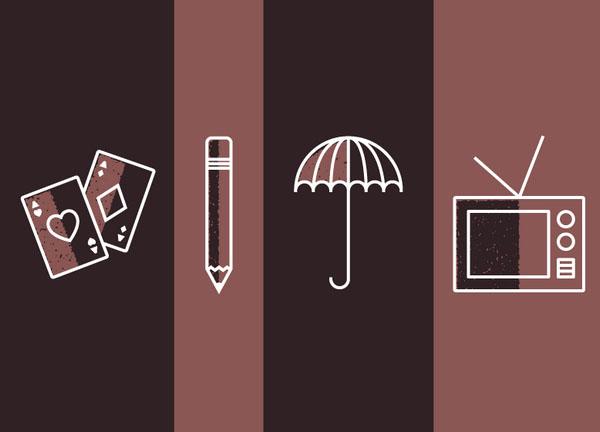 不一样的极简风!细腻有趣的三色极简图标设计案例