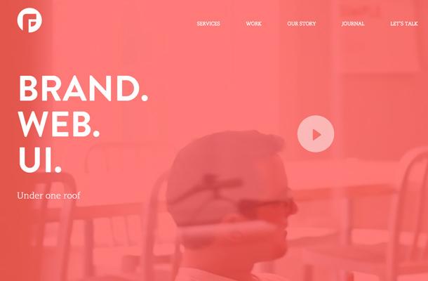 focus lab llc creative typographic website