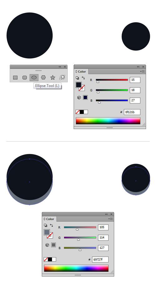 AI教程!手把手教你绘制一个大气典雅的灯光背景