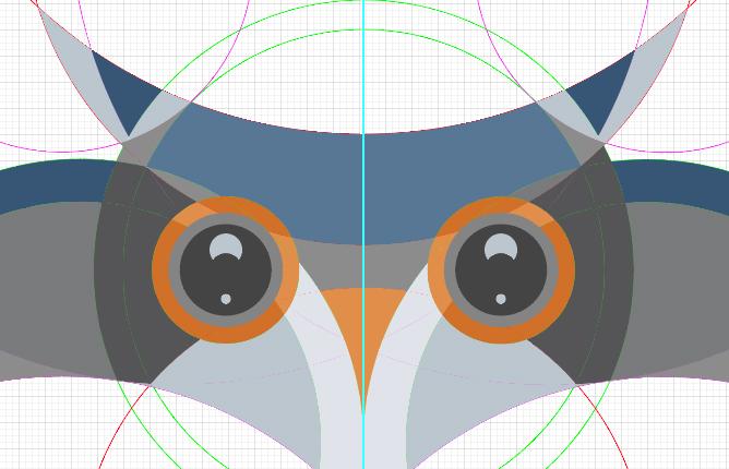 AI教程!手把手教你绘制色彩丰富的卡通猫头鹰(附源文件)