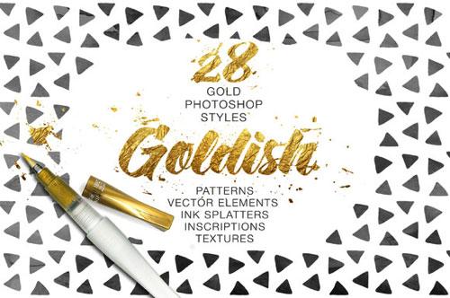 黄金 金色 高端 纹理 1