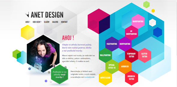 Anet-Design Website Designs Using Hexagons