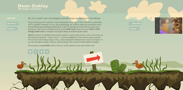 Dean-Oakley creative footer designs