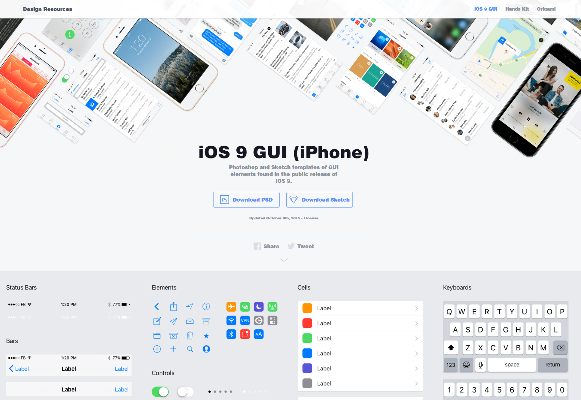 facebook-ios9-light-psd-sketch-ui-kit
