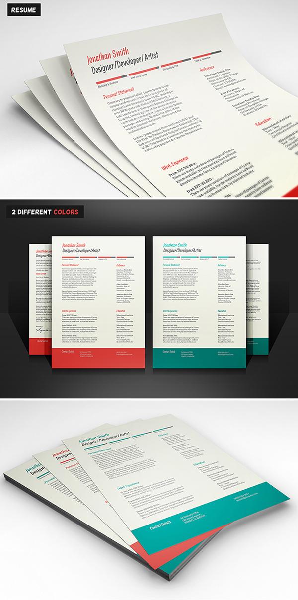 free_CV_Resume_psd_template_6