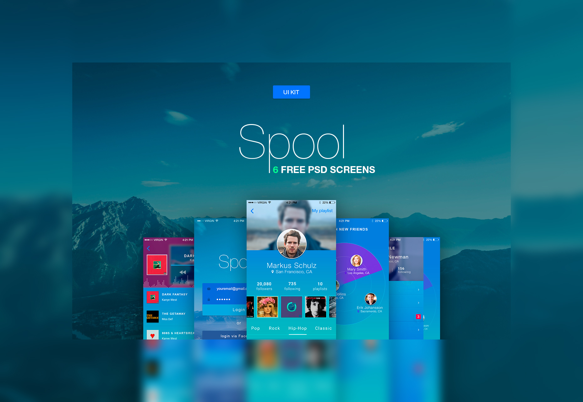 spool-iphone-material-design-ui-kit-psd