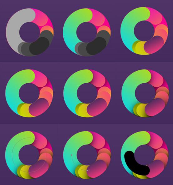 PS教程!手把手教你创建一款色彩缤纷的字体效果