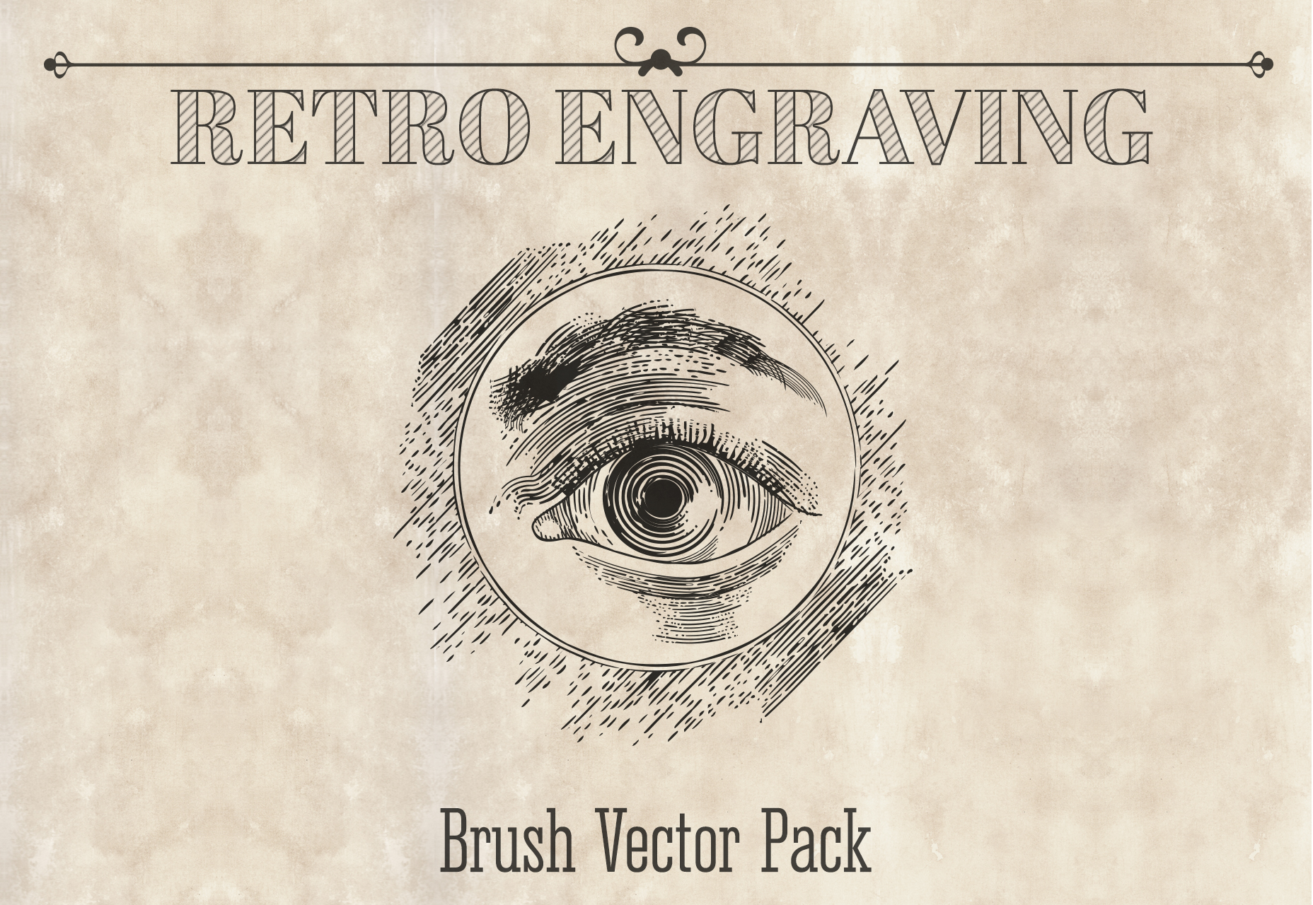 110-vintage-engraving-style-brushes-pack-