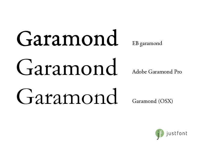 garamondcompare