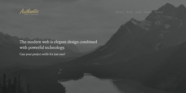 教父级色彩5.0!一组沉稳有范儿的黑色系优秀网页设计