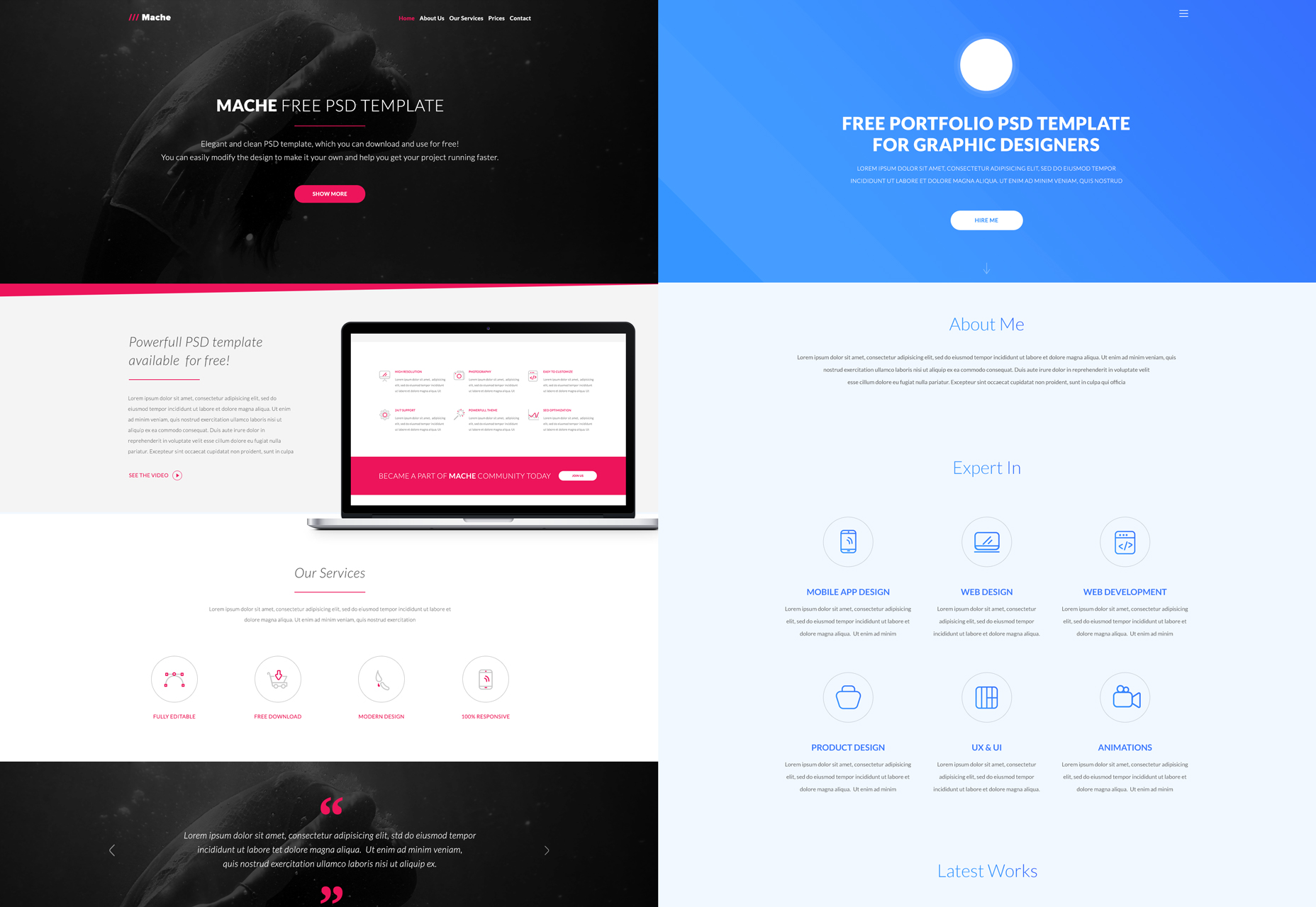 a-bundle-of-10-psd-web-templates